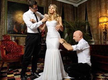 примерка свадебного платья Ферджи