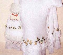 вязаная свадебная сумочка