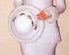 вязаная свадебная шляпа