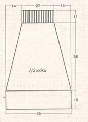 рисунок-схема юбки
