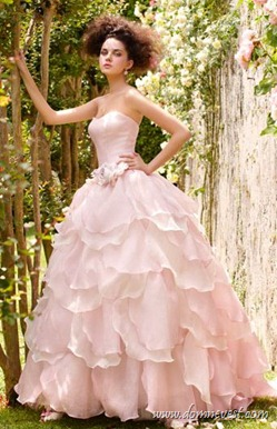 розовое свадебное платье Atelier Aimee