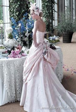 светло-розовое свадебное платье Atelier Aimee