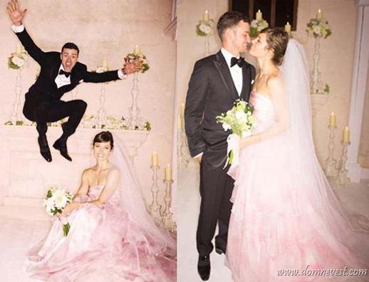 свадебное платье Джессики Бил