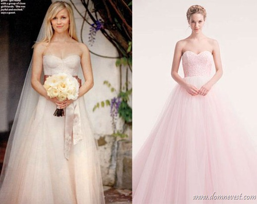 свадебное платье Риз Уизерспун
