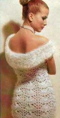 свадебное платье с пушистым воротником