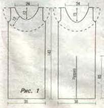 схема-рисунок вязаного платья