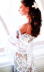 вязаное короткое платье