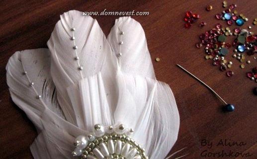 украшение свадебного гребня