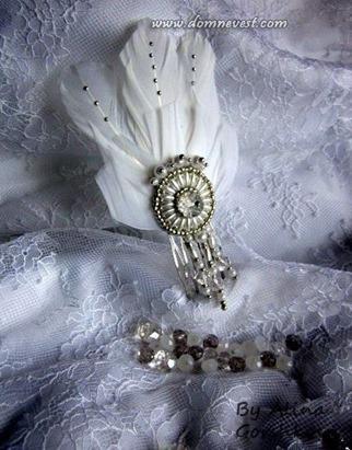 гребень для невесты своими руками