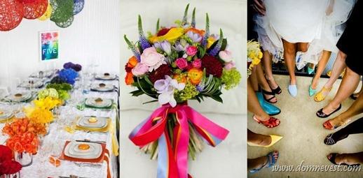 разноцветная свадьба