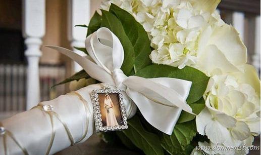 свадебный букет с фотографией