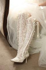 кружевные свадебные сапоги