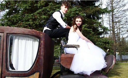 тематическая свадебная фотосессия