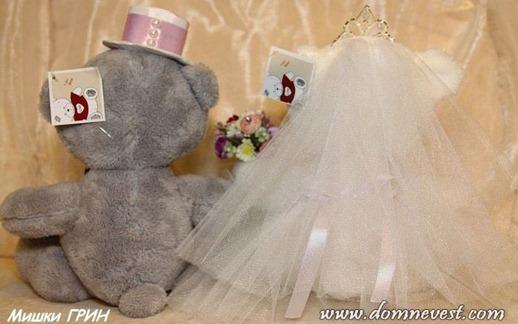 наряды для свадебных мишек Тэдди