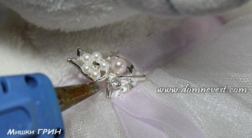 украшение свадебных мишек