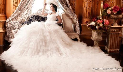 свадебные платья со шлейфами