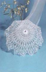 вязаный свадебный зонт