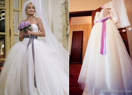 свадебное платье Война невест и копия