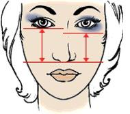 макияж для длинного носа