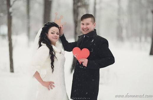 идеи для зимних свадебных фотографий