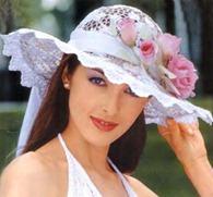 кружевная свадебная шляпа