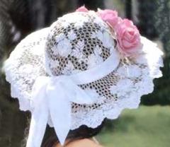 кружевная свадебная шляпа вид сзади