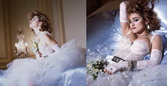 свадебное платье Мадонны Like a Virgin на обложке альбома