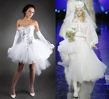свадебные платья в стиле Мадонны