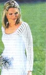 вязаный свадебный пуловер