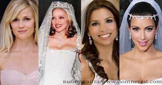 свадебный макияж знаменитости