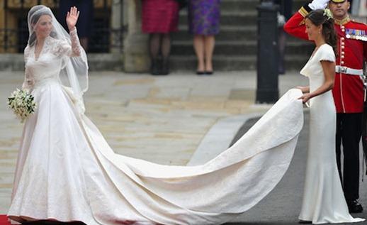 платье Пиппы Миддлтон на королевской свадьбе