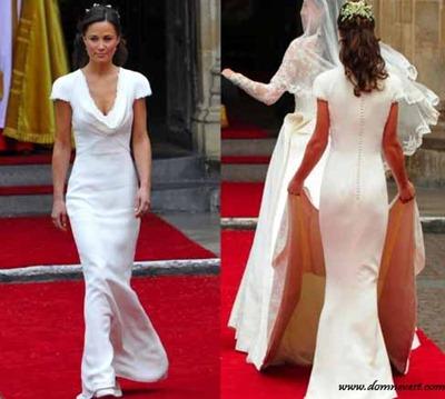 платье Пиппы Миддлтон вид спереди и сзади