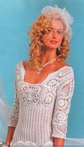 вязаное свадебное платье ананас