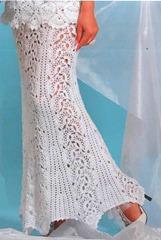 юбка вязаного свадебного платья
