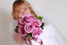 свадебный букет для блондинки