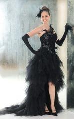 черное свадебное платье от Annie Couture