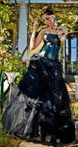 черное свадебное платье от Christine Calmet