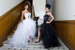 черное и белое свадебное платье от Josy Buhr