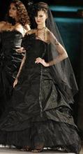 черное свадебное платье от Mariee Cymbeline