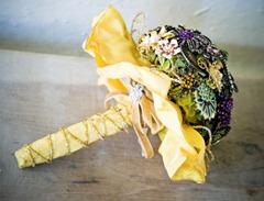 винтажный свадебный букет