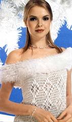 вязаное платье с мехом