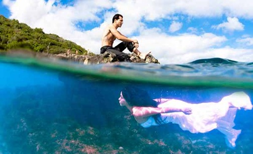 фотосессия под водой