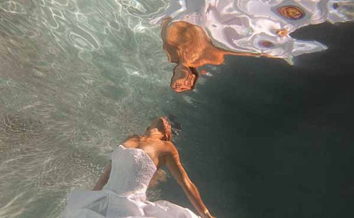 trash-the-dress под водой
