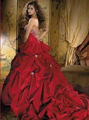 гранатовое свадебное платье
