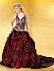 бордовое свадебное платье