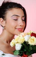 разноцветный свадебный букет