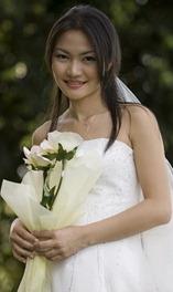 скромный букет невесты