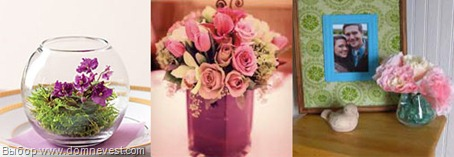 высушенные свадебные букеты в вазах