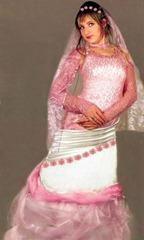 вязаное свадебное платье розовое