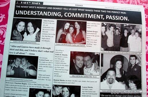 приглашение на свадьбу газета